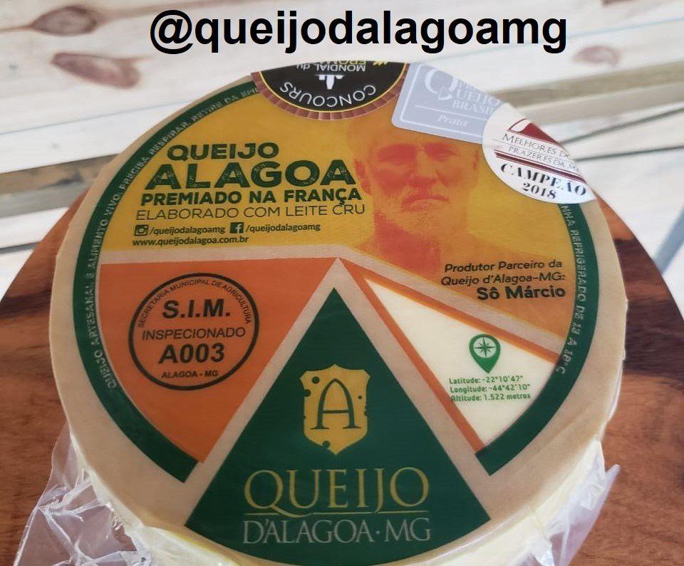 Queijo D'Alagoa-MG Premiado na França (Peça Pequena 1 a 1,3kg)