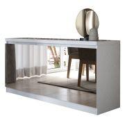 Buffet Truzzi 4 Portas Espelhado Branco Gloss - Móveis Província