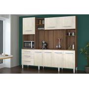 Cozinha Compacta 2.2 Holanda Noce com Ravena - CSA Móveis