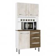 Armário de Cozinha Montreal 0.8 Ravena com Ferrara - CSA Móveis