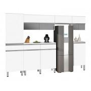 Armário de Cozinha San Francisco 3.0 Branco Espelhado - CSA Móveis