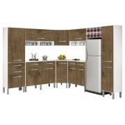 Armário de Cozinha Tóquio 4.3 Completa Branco com Ferrara - CSA Móveis