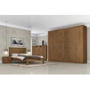 Dormitório Completo Casal Montreal Carvalho - Tebarrot Móveis