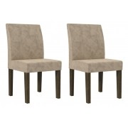 Jogo 2 Cadeiras Europa Imbuia - RV Móveis
