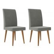 Jogo 2 Cadeiras Jade com Cinza Lunar - RV Móveis