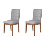 Jogo 2 Cadeiras Joy Natural com Alpha 80 - Móveis Província