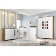 Jogo De Quarto Para Bebê Completo Amore Branco com Teka - Matic Móveis