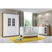 Jogo De Quarto Para Bebê Completo Encanto Branco com Teka - Matic Móveis