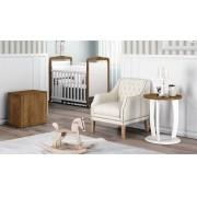 Jogo de Quarto para Bebê Completo Eternity Branco com Gengibre - Imaza Móveis