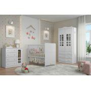 Jogo De Quarto Para Bebê Completo Ninare Branco Brilho - Matic Móveis