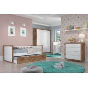 Jogo De Quarto Para Bebê Completo Tutto Branco com Teka - Matic Móveis