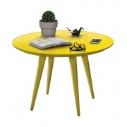 Mesa de Centro Grace Amarelo - Edn Móveis