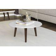 Mesa de Centro Retrô Brilhante Branco - Móveis Bechara