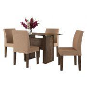 Mesa de Jantar com 4 Cadeiras Europa Noce - RV Móveis