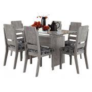 Mesa de Jantar com 6 Cadeiras Esmeralda Carvalho - RV Móveis