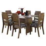Mesa de Jantar com 6 Cadeiras Esmeralda Imbuia - RV Móveis