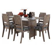 Mesa de Jantar com 6 Cadeiras Esmeralda Terrarum - RV Móveis