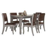 Mesa de Jantar com 6 Cadeiras Ônix Carvalho - RV Móveis