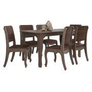 Mesa de Jantar com 6 Cadeiras Ônix Terrarum - RV Móveis