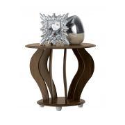 Mesa Lateral Cristal Amêndoa - Patrimar Móveis