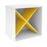 Módulo 450 MB 1004 Branco com Amarelo - Móveis Bechara
