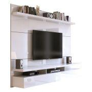 Painel para TV City 1.8 Branco Gloss - Móveis Província