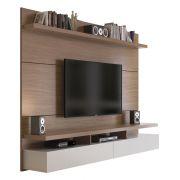 Painel para TV City 1.8 Natural com Off-White - Móveis Província
