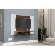 Painel para TV Quarto até 48 polegadas EJ Branco com Malbec - EJ Móveis