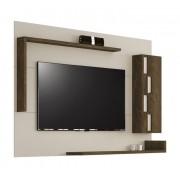 Painel para Tv Laguna Nogal Rústico com Off White - Edn Móveis
