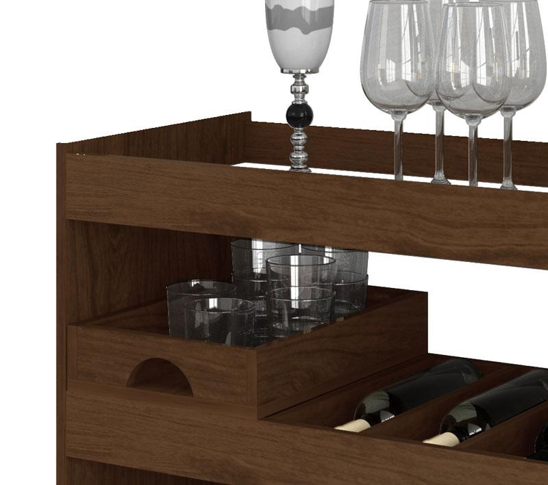 Armario Para Ropa Blanca Ikea ~ Aparador Bar Adega JB 4030 Imbuia JB Bechara