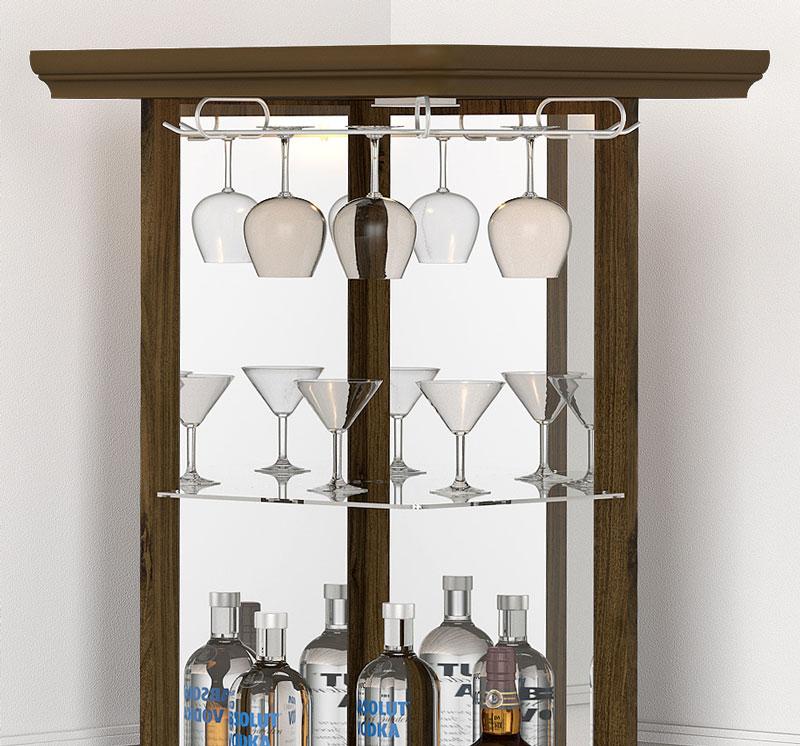 Barzinho de Canto para Sala Drink New Imbuia - Imcal