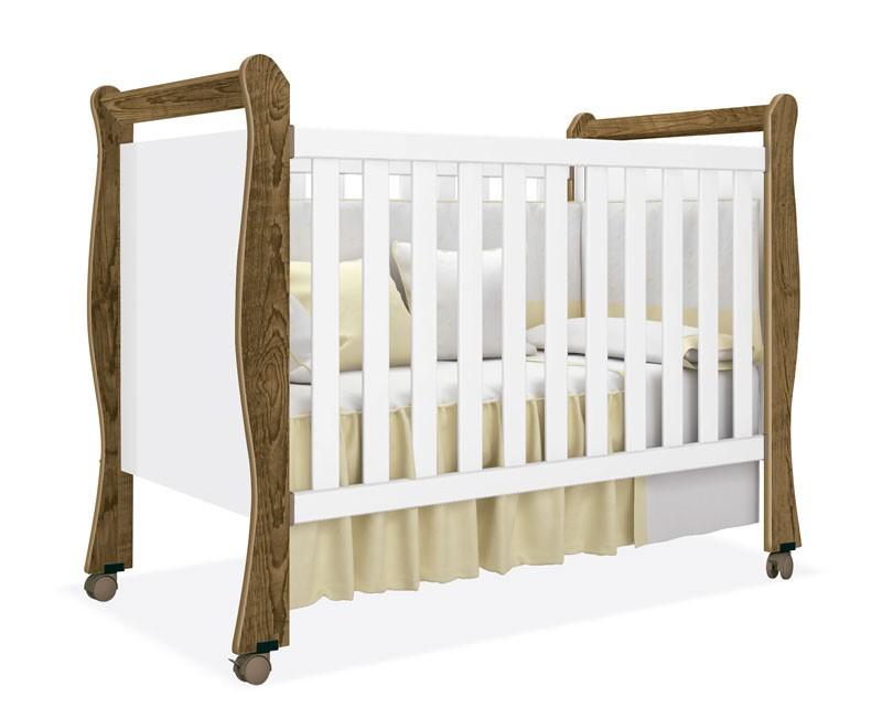 Berço Baby Branco com Gengibre - Imaza Móveis