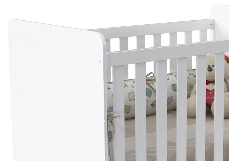 Berço Vitta Branco Fosco - Matic Móveis