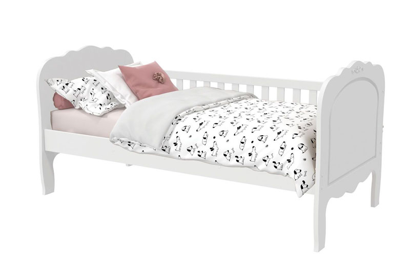 Cama Babá Provence Branco Fosco - Matic Móveis