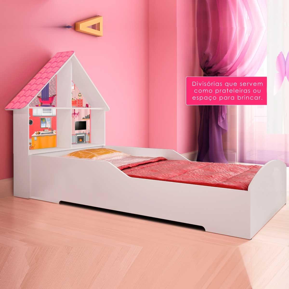 Cama infantil casinha para meninas em promo o branca r - Dosel para cama infantil ...