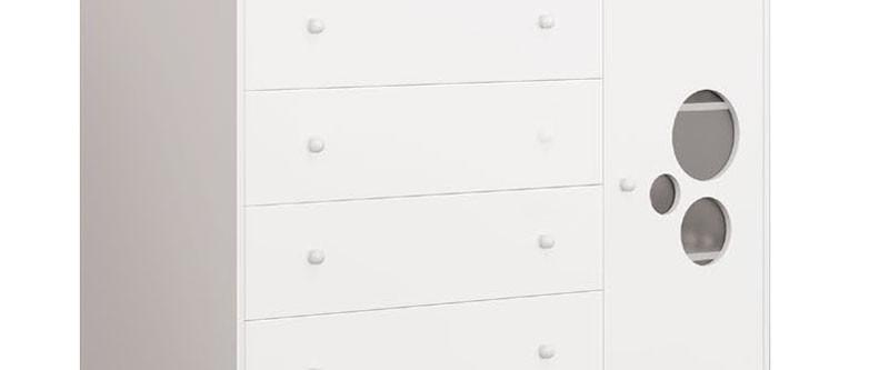 Cômoda Baby Branco Brilho - Imaza Móveis