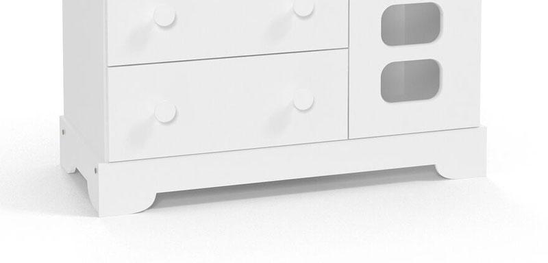 Comoda Smart Branco Brilho - Matic Moveis