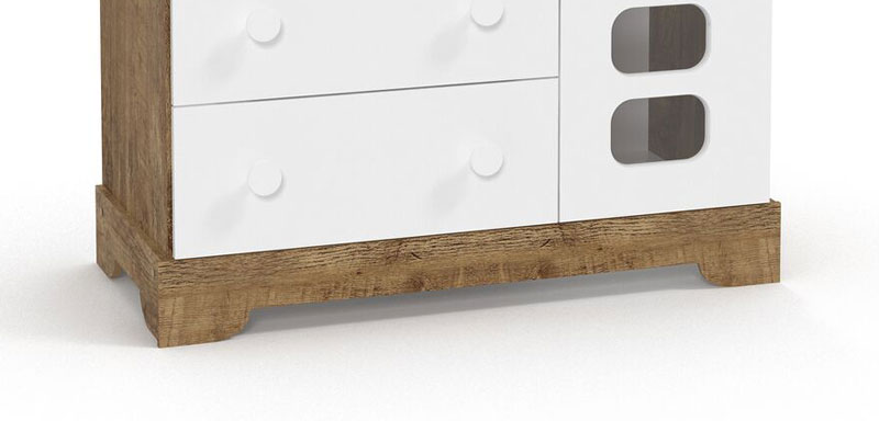 Cômoda Smart Branco Fosco com Teka - Matic Móveis
