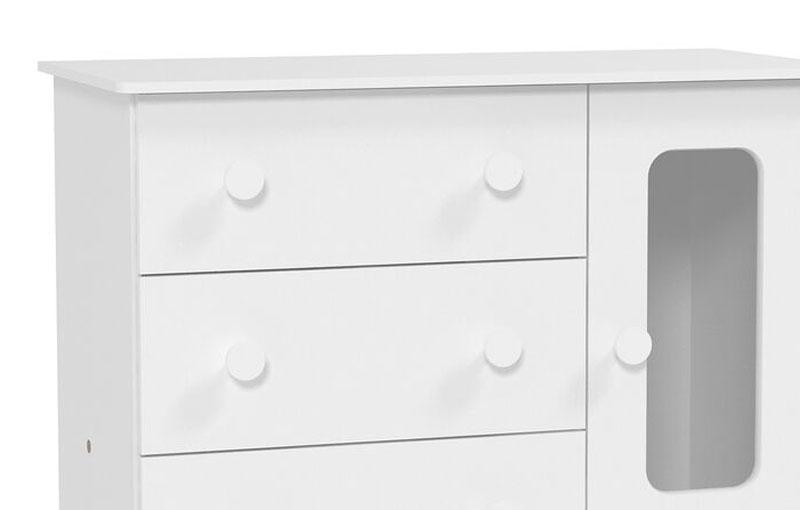 Cômoda Smart Branco Fosco - Matic Móveis