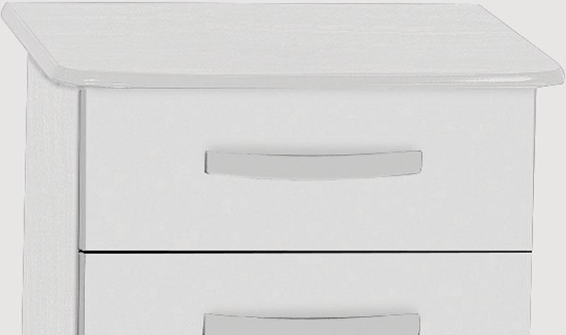 Criado Mudo Rubi Branco - Móveis Primus