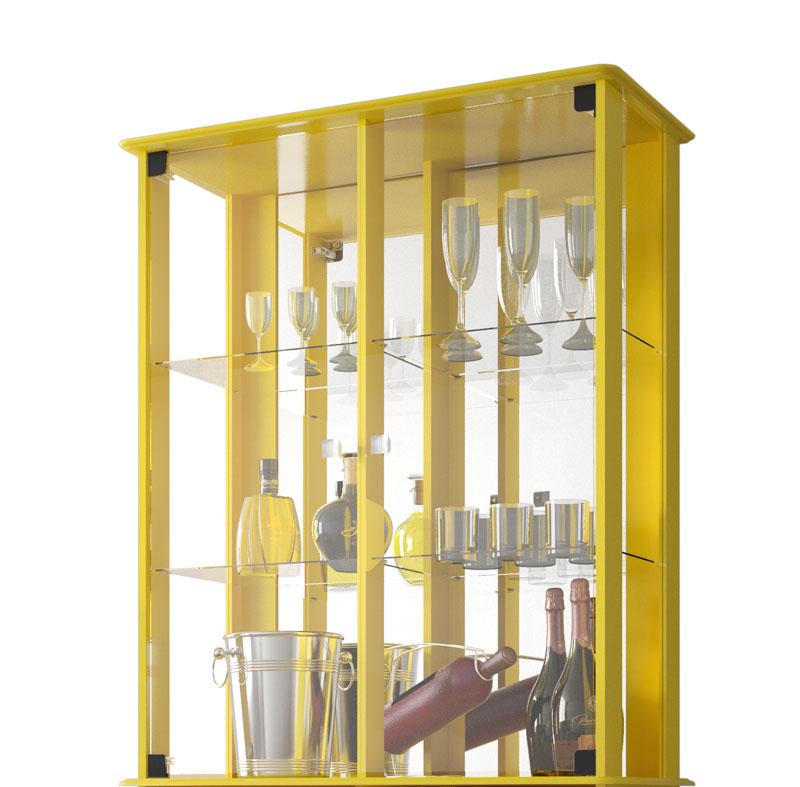 Cristaleira Verona Amarelo - Moveis Bechara