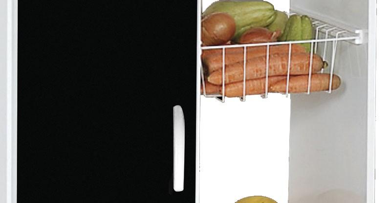 Fruteira Iana Branco com Preto - Moveis Primus