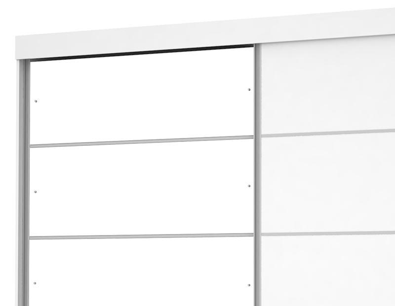 Guarda Roupa Camboriu Plus III com espelho Branco - Mirarack