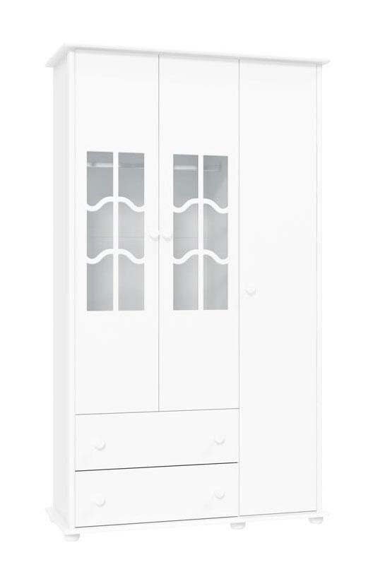 Guarda-Roupa Confort 3 Portas Branco Brilho - Matic M�veis