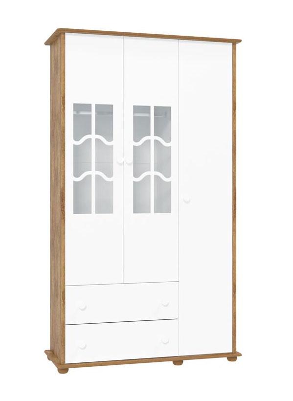 Guarda-Roupa Confort 3 Portas Branco Fosco com Teka - Matic Móveis