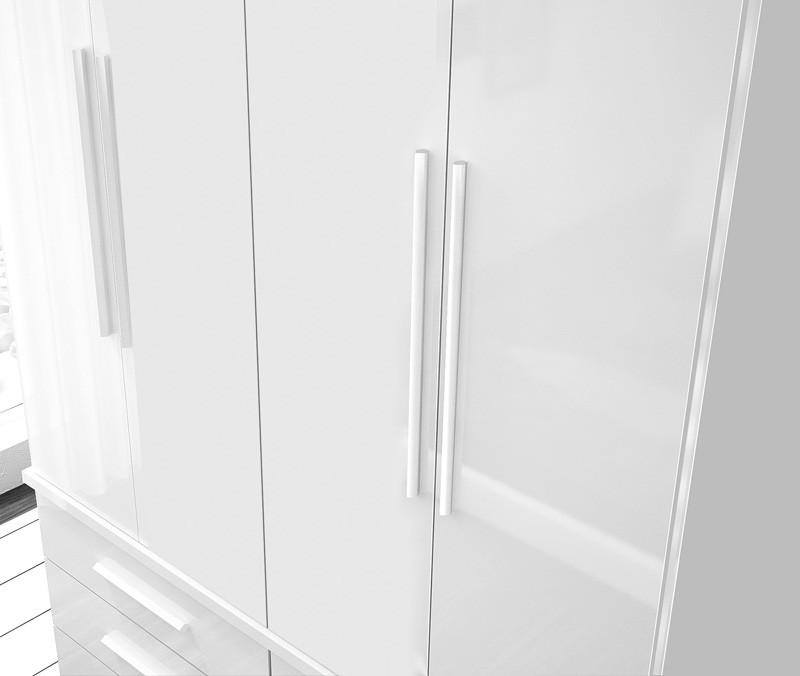 Guarda Roupa Duplex 4 Portas Rubi Noce - FabriMoveis