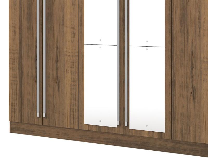 Guarda Roupa Itapema Plus III com espelho Rústico - Mirarack