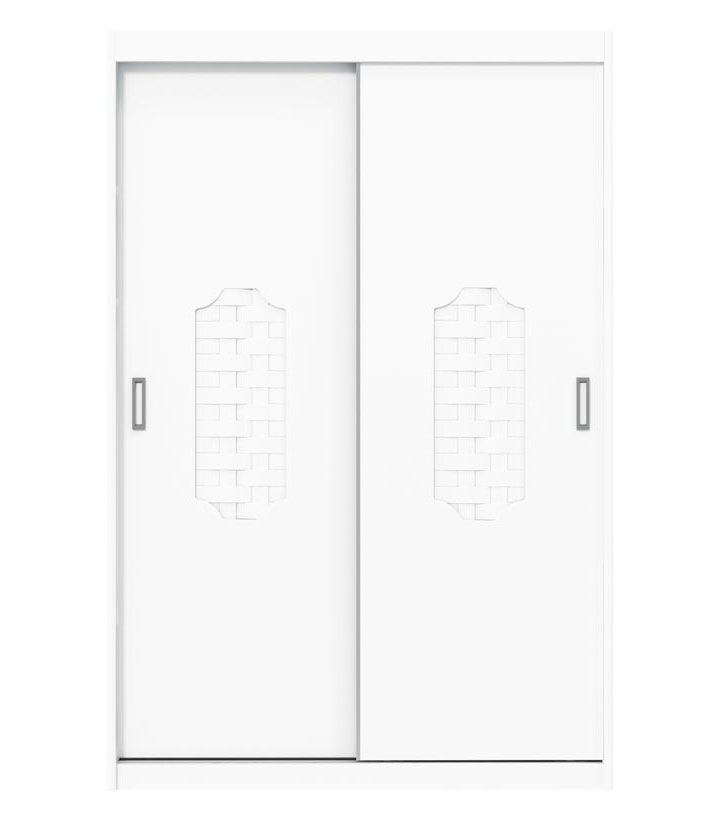 Guarda-Roupa Treliça New 2 Portas de Correr Branco Brilho - Matic Móveis