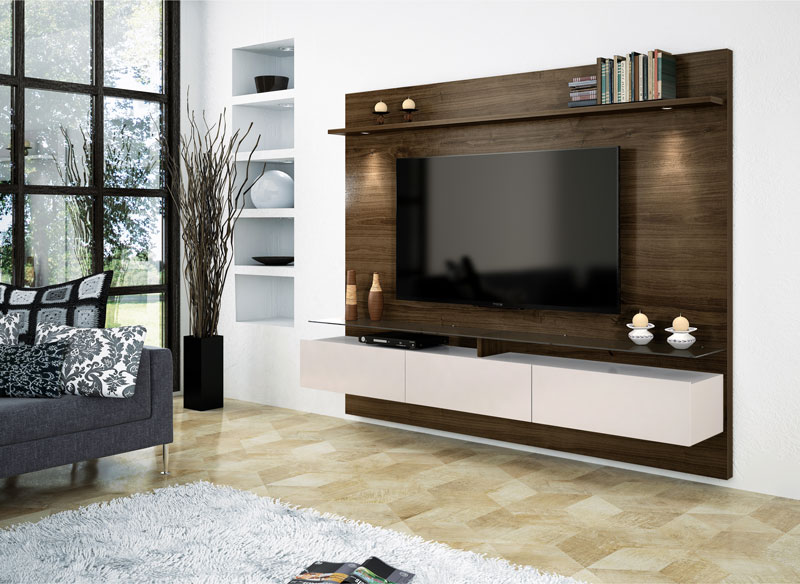 Home Suspenso Vidratto Imbuia com Off White 2.2 - Imcal