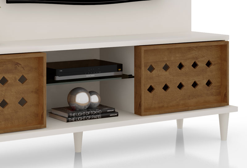 Home Theater Splendore Off White com Amendoa - Lukaliam Moveis